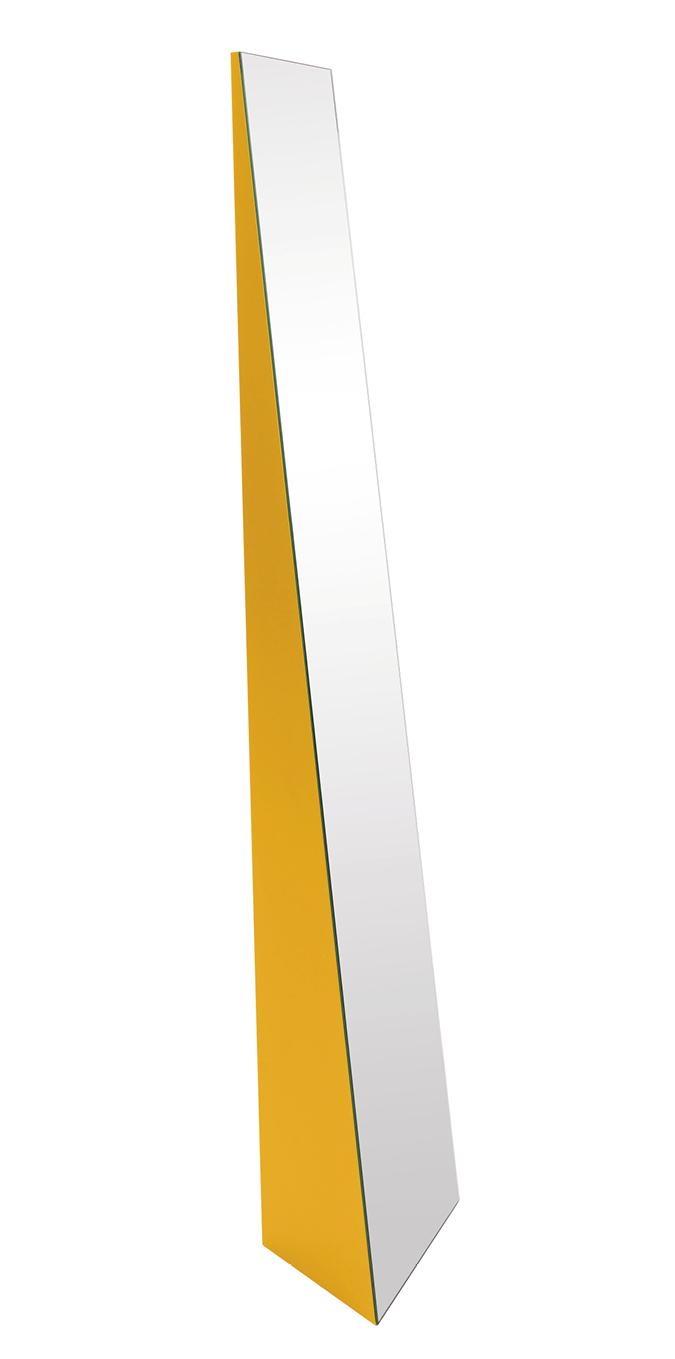 Schönbuch Design Standspiegel Beam Holz gelb zeitlos Ilja Huber Schönbuch design floor mirror Beam wood yellow timeless Ilja Huber