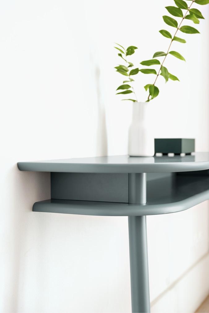 Schönbuch Design Konsoltisch Bureau Holz türkis blau platzsparend Earnest Studio Schönbuch design console table Bureau wood turquoise blue space-saving Earnest Studio